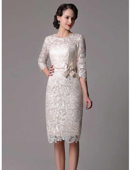 Wedding dresses for Knee length wedding dresses with sleeves