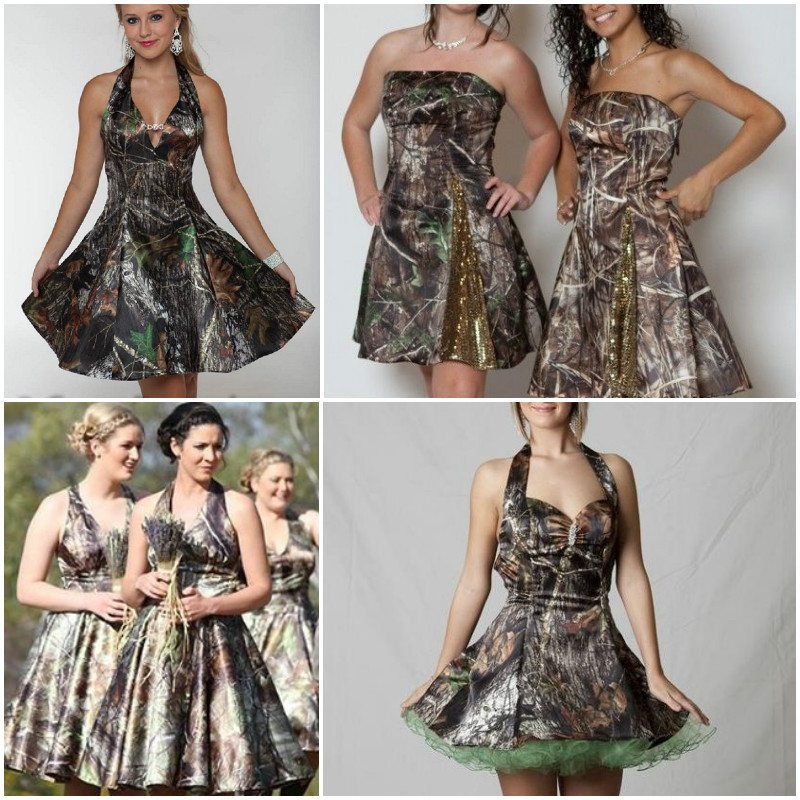 Classy Camo Wedding Ideas: Trendy Camo Bridesmaid Dresses For A Unique Wedding