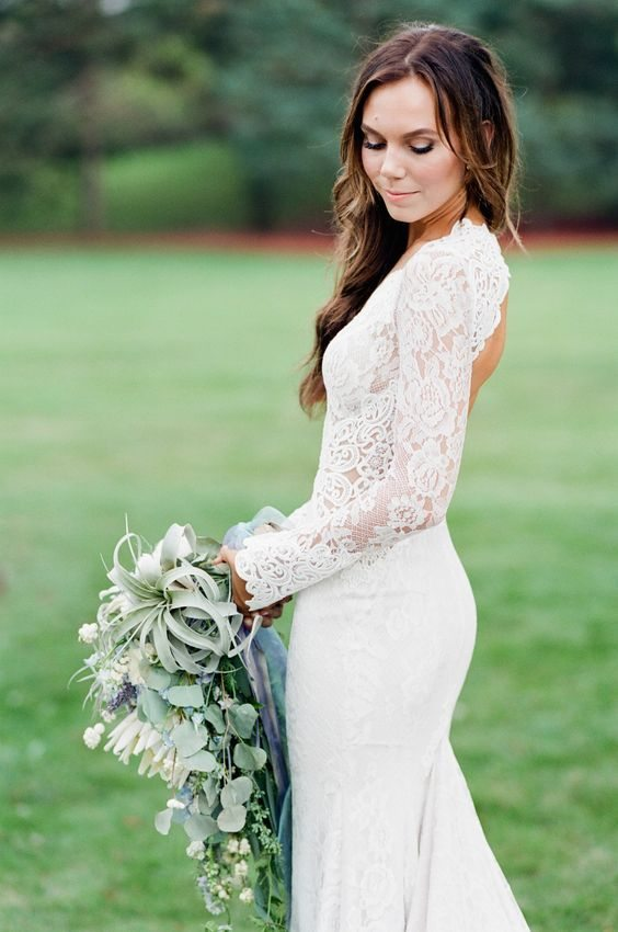 gblog most gorgeous sleeved wedding dress