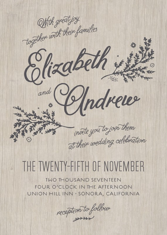 get inspired from 10 wedding invitation styles for second