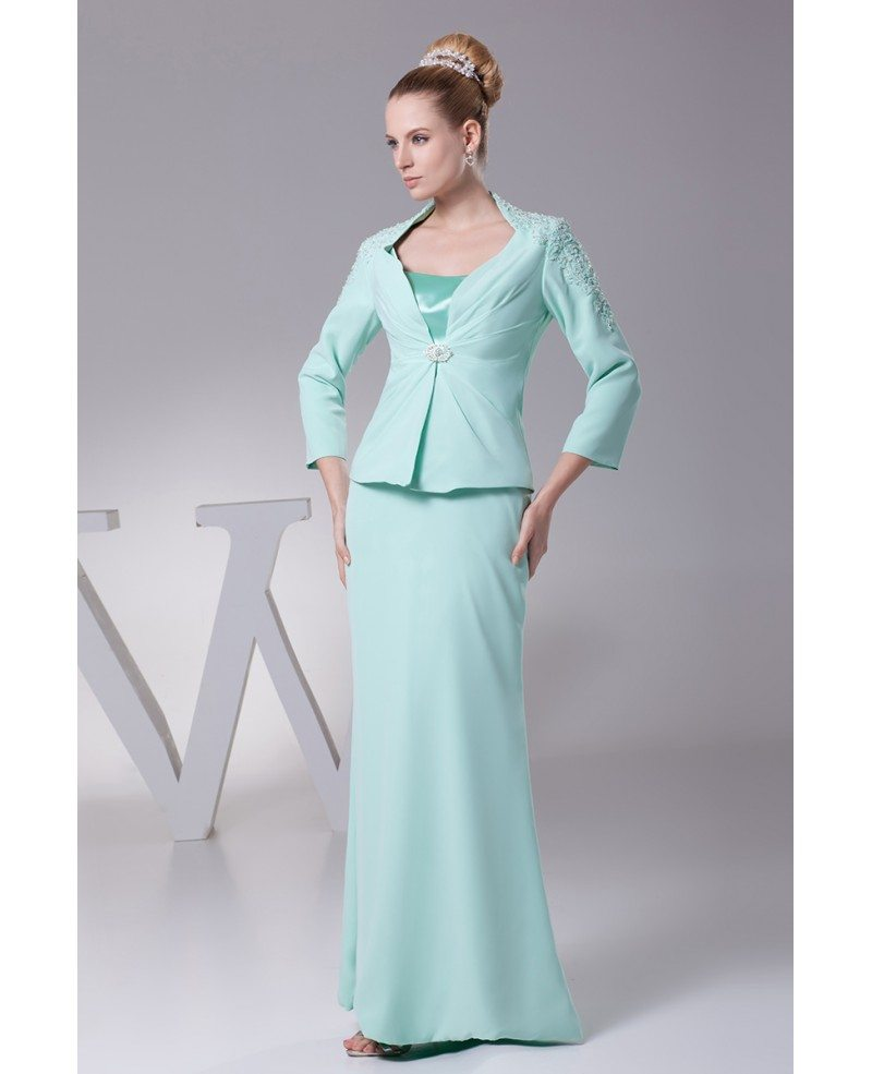 Dorable Mother Of The Groom Long Dresses With Jackets Elaboration ...