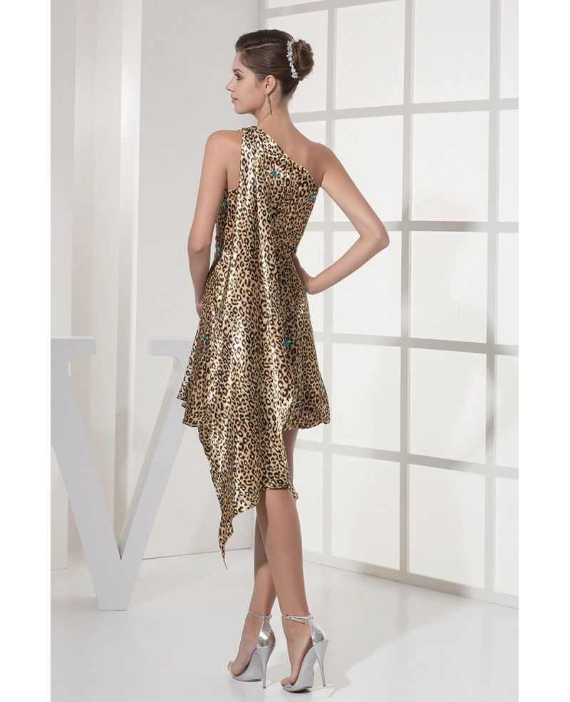 Unique Beaded Short Sexy Leopard Prom Dress in One ...