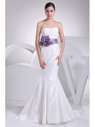 Lace mermaid wedding dresses mermaid lace wedding dresses for All white wedding dress