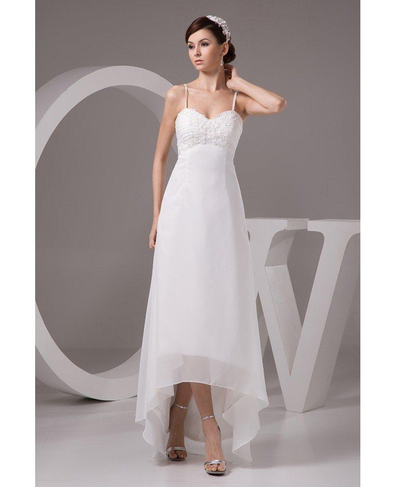 A line sweetheart asymmetrical chiffon wedding dress with Wedding dress a line sweetheart