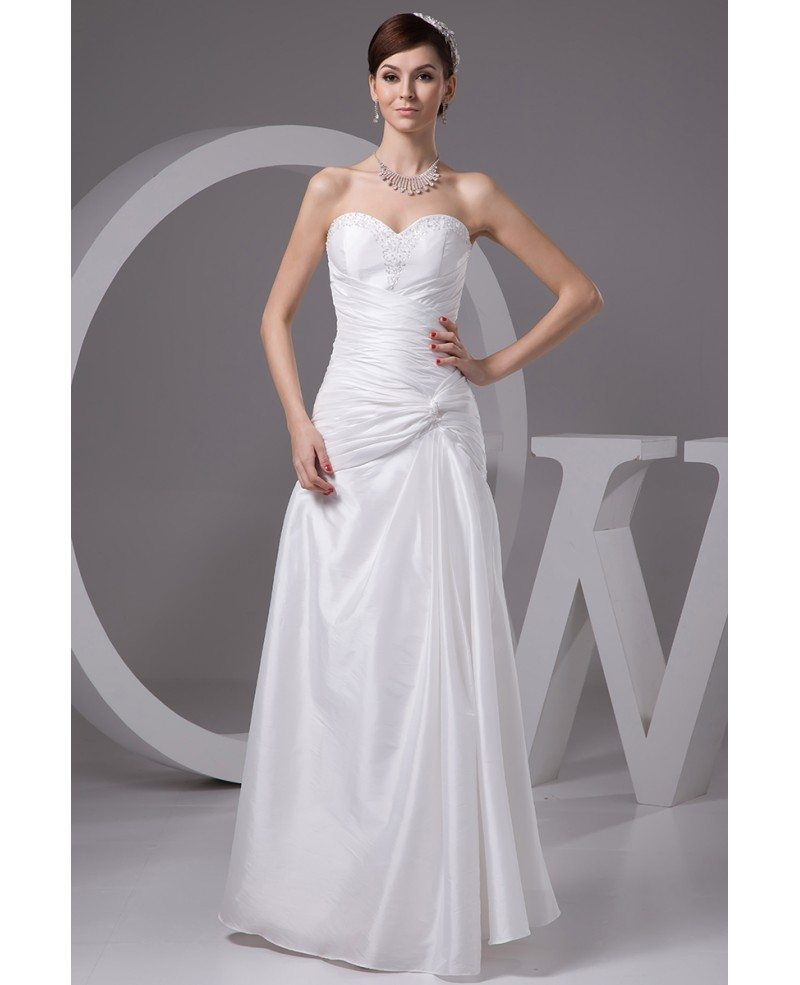 Simple And Elegant White Satin Sweetheart With Jacket: Sheath Sweetheart Floor-length Satin Wedding Dress With