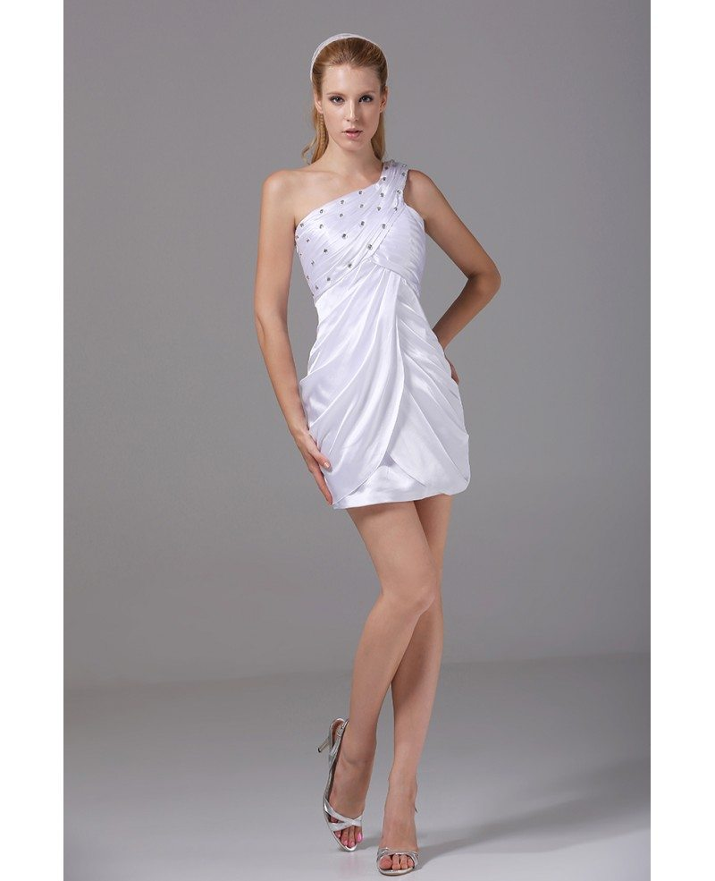 Cheap Fitted Simple Short Wedding Dresses Reception White ...