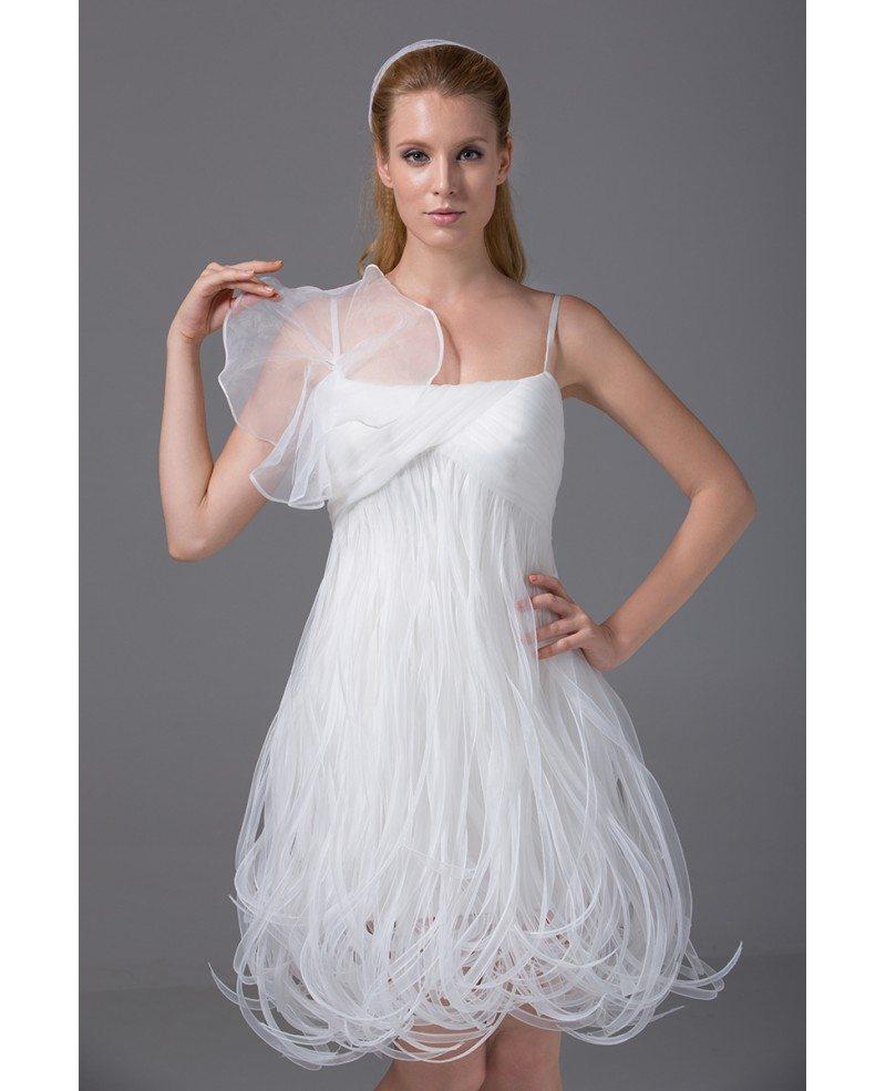 Cheap Short White Wedding Dresses Summer Unique Spaghetti