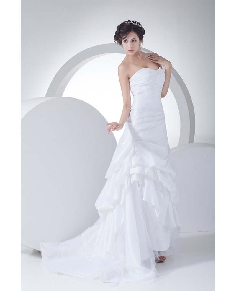 Popular Wedding Gowns: Popular Sweetheart Pleated Taffeta Wedding Dress Custom