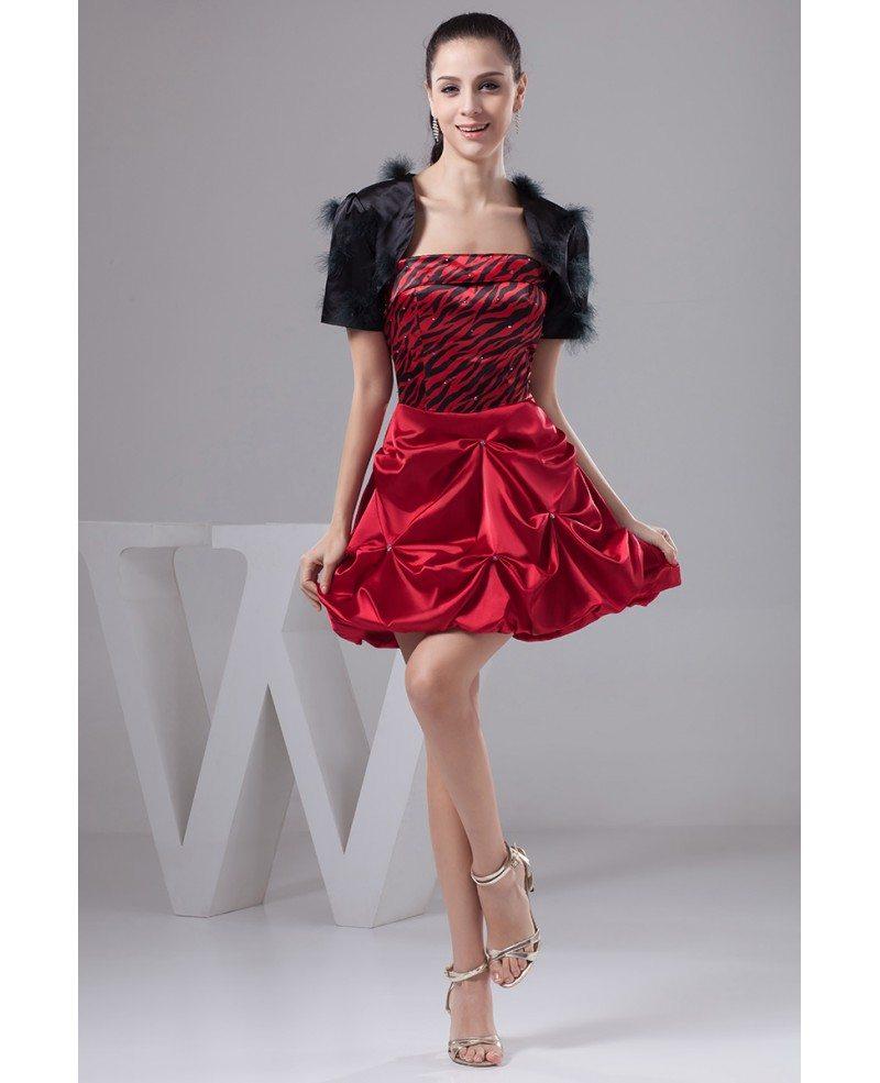 A-line Strapless Short Satin Prom Dress #OP41054 $120.8 ... - photo#16