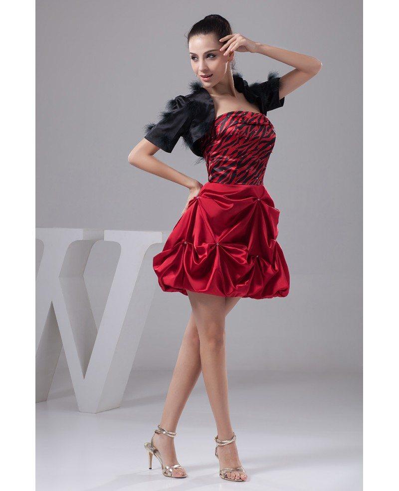 A-line Strapless Short Satin Prom Dress #OP41054 $120.8 ... - photo#36
