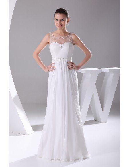 Pretty Empire Waist Long Chiffon Maternity Wedding Dress #OP4141 ...