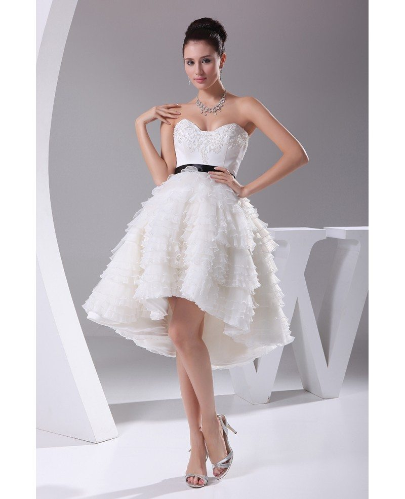 Reception Short Wedding Dresses High Low Cute Sweetheart