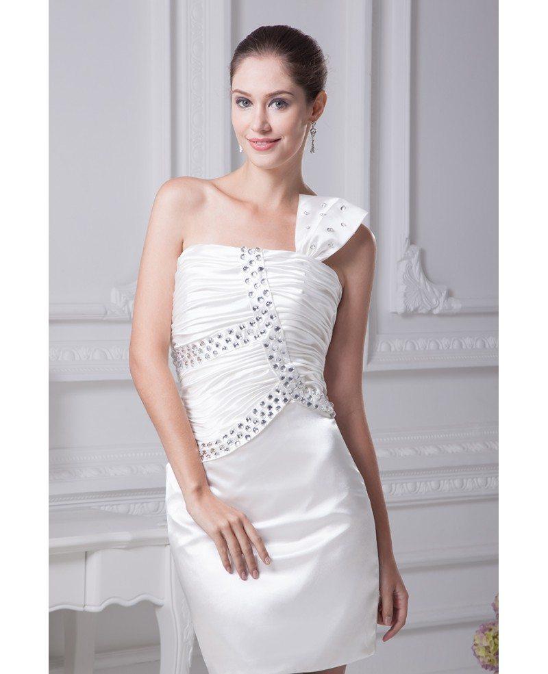 White Wedding Dress Mini: Little White Short Wedding Dresses Tight Mini Beaded One