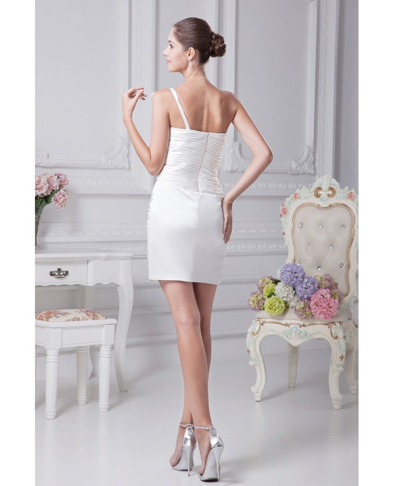 Little White Short Wedding Dresses Tight Mini Beaded One