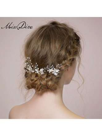 Pearl and Rhinestones Hairpins Style