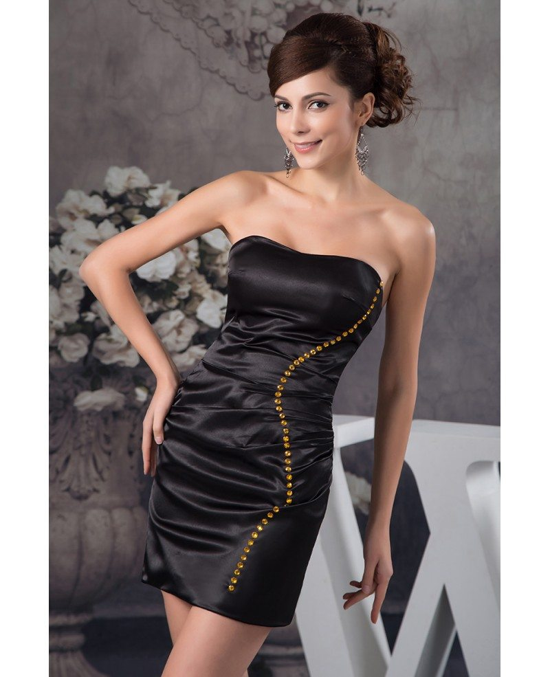 sheath sweetheart short satin cocktail dress  op41132  103 4