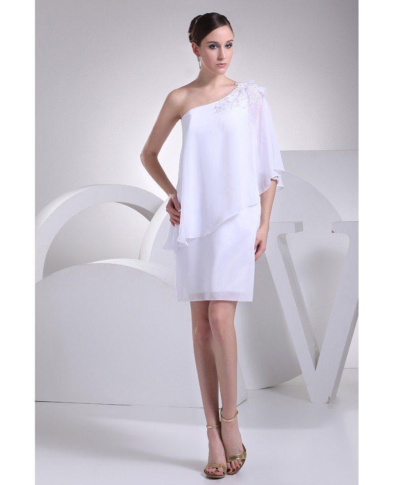 Elegant short wedding dresses for older women beaded one for Beaded short wedding dress