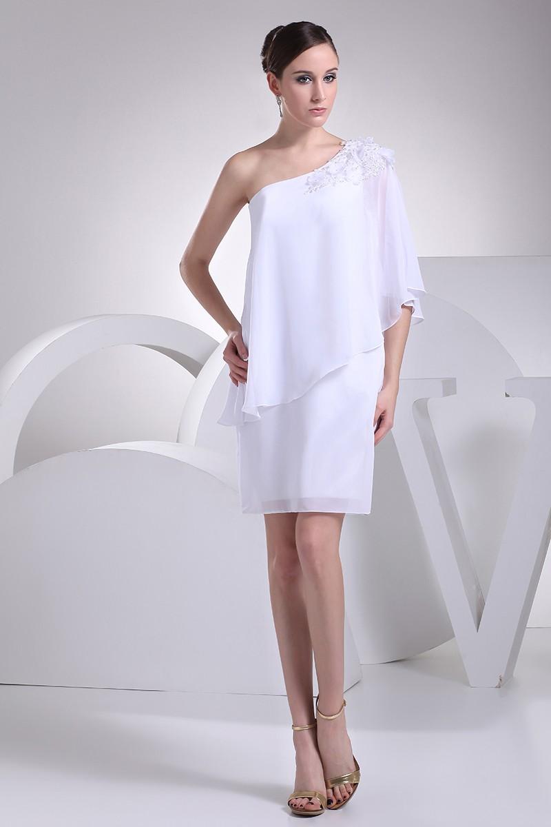 Elegant Short Wedding Dresses For Older Women Beaded One