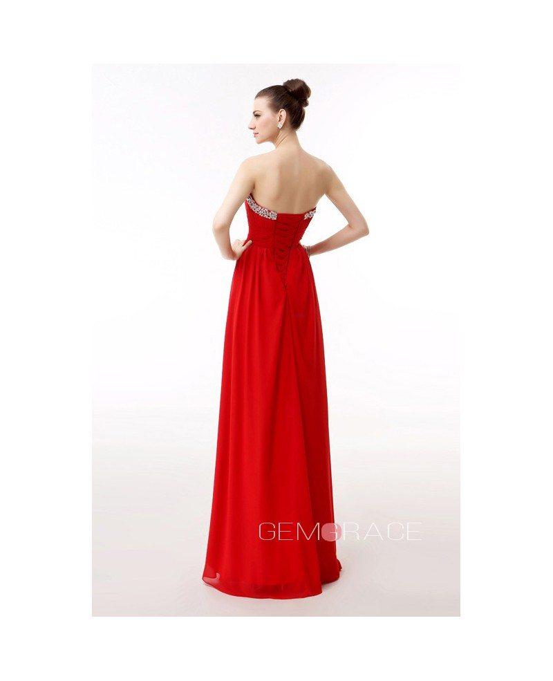 Empire Sweetheart Floor Length Chiffon Prom Dress