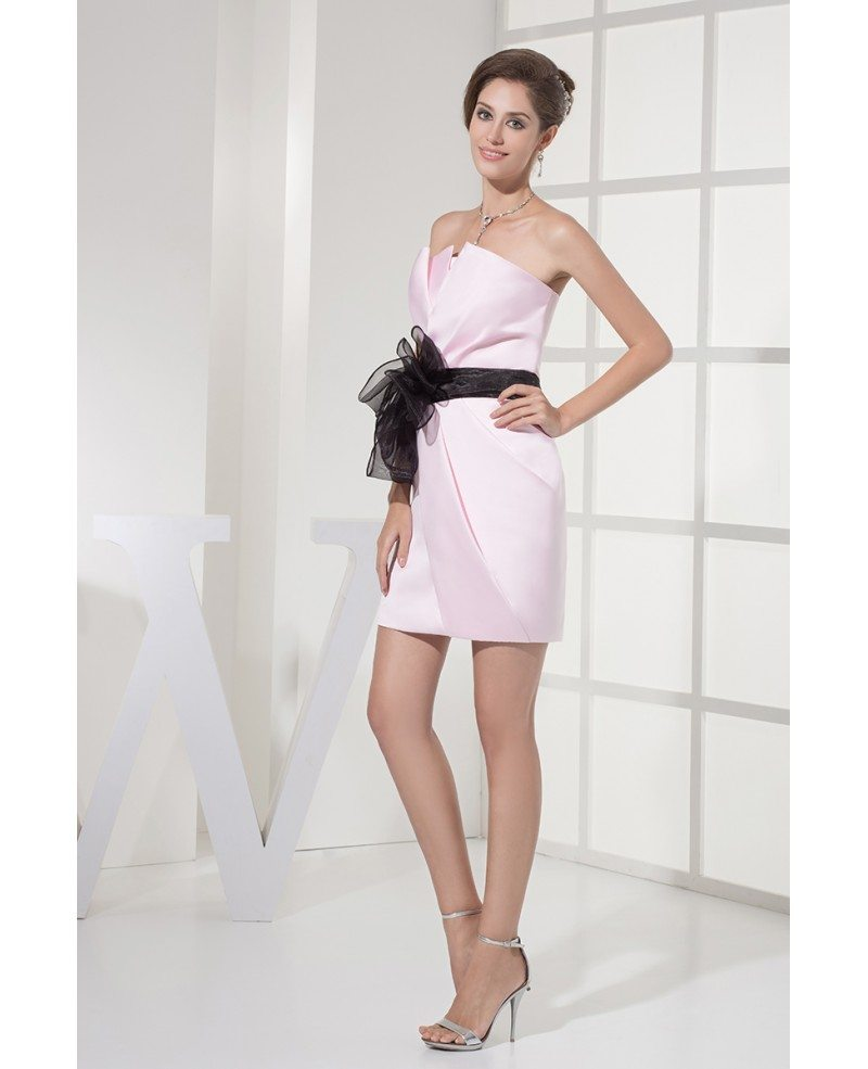 Black bridesmaid dresses with sash
