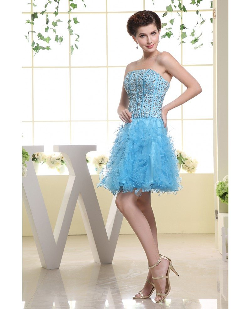 Cascading Ruffle Tulle Prom Dress