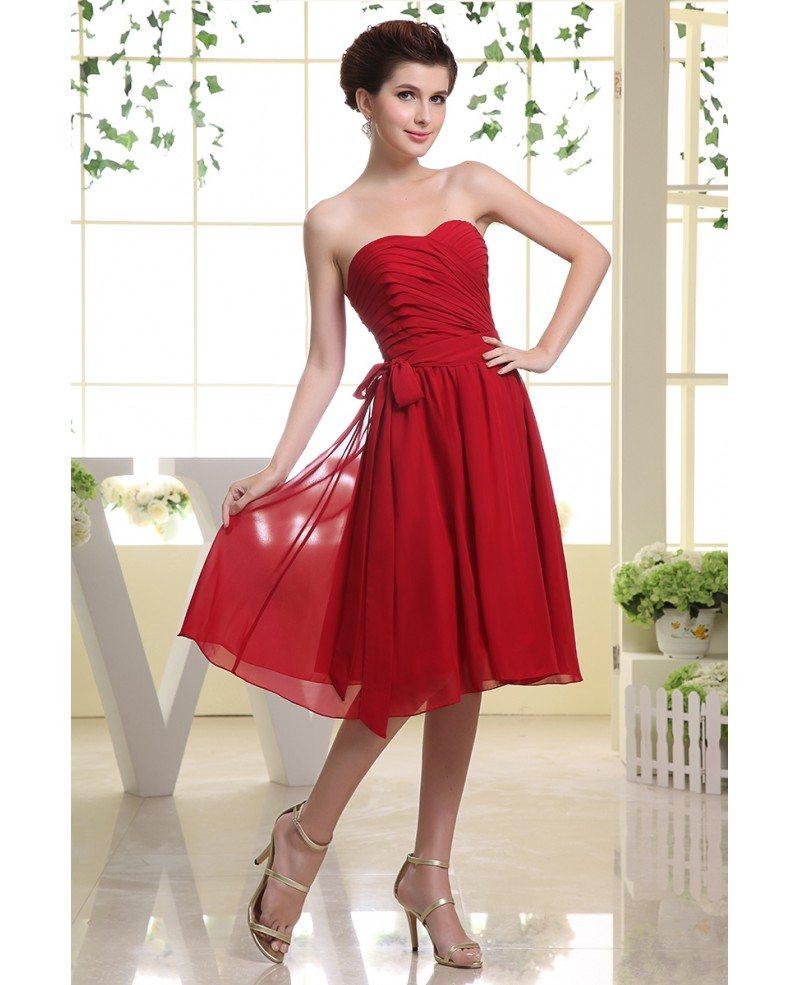 A line sweetheart knee length chiffon bridesmaid dress op3063 90 a line sweetheart knee length chiffon bridesmaid dress ombrellifo Gallery