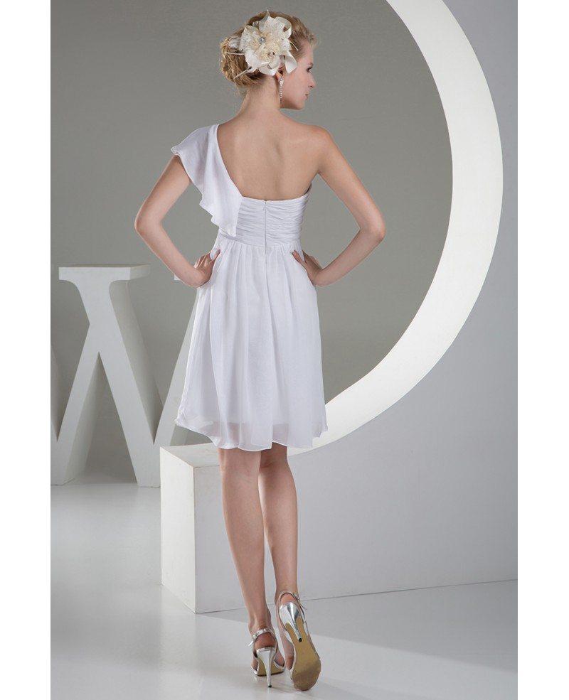 Simple A Line Wedding Dress: Cheap Short Wedding Dresses Beach Wedding Simple A-line