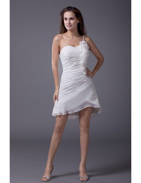 Cheap summer short wedding dresses casual little white for Short white summer wedding dresses