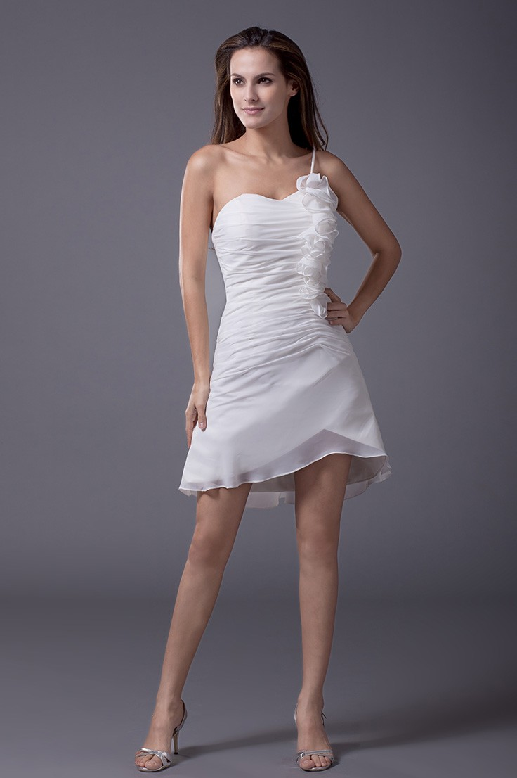 Cheap Summer Short Wedding Dresses Casual Little White