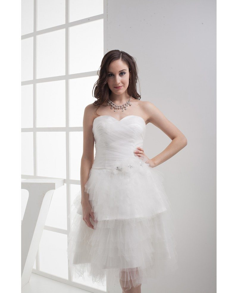 White Wedding Gown Styles: Reception Cheap Short Wedding Dresses Layered Puffy White