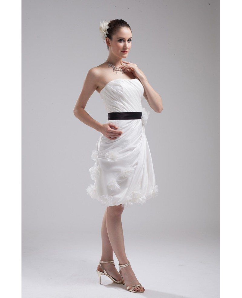 Elegant Reception Short Wedding Dresses With Color White