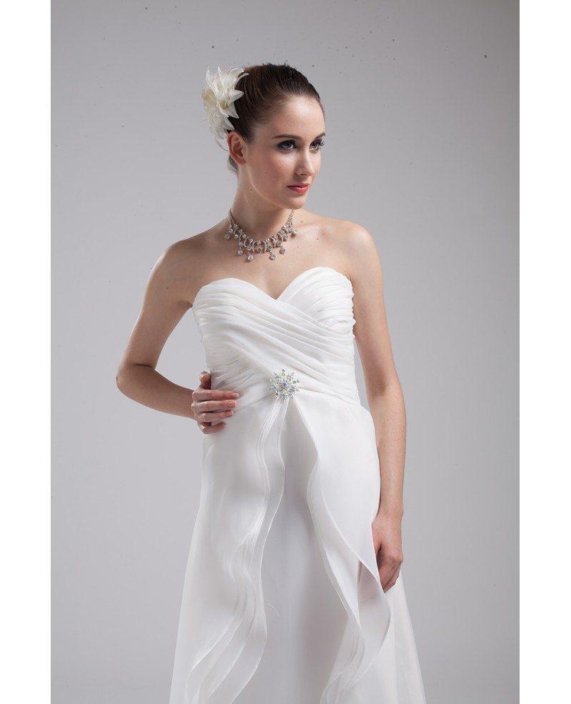 Aline Wedding Gown: Elegant White Organza Sweetheart Aline Wedding Dress