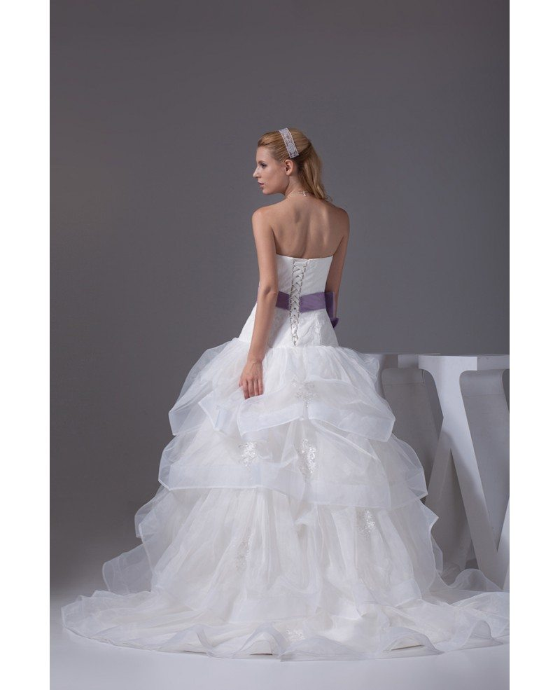 Wedding Gowns With Ruffles: Cascading Ruffles Organza Sweetheart Wedding Dress With