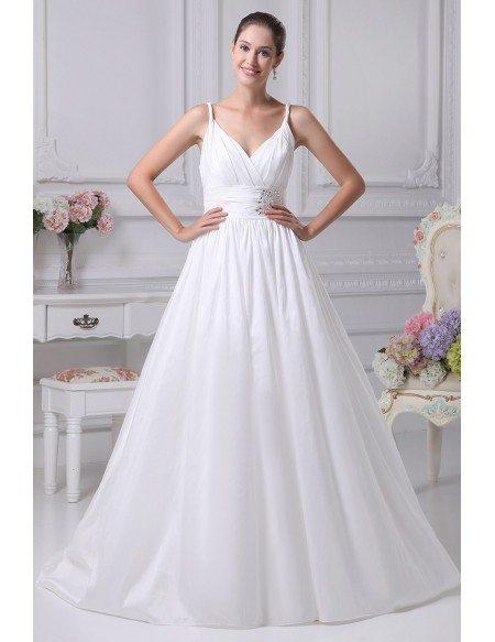 Elegant white empire waist maternity wedding dress with for White maternity wedding dress