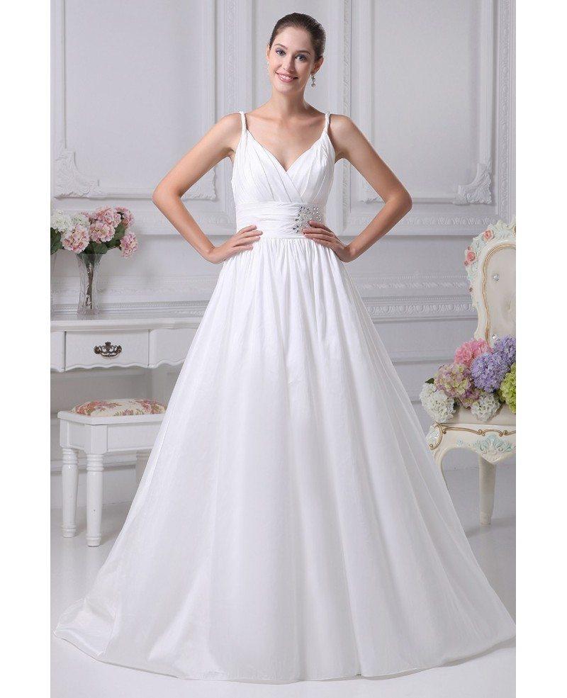 Elegant White Empire Waist Maternity Wedding Dress With