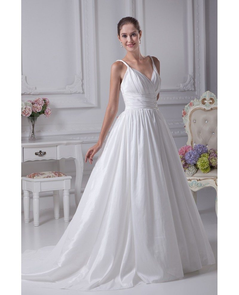 Empire Waist Wedding Dress: Elegant White Empire Waist Maternity Wedding Dress With