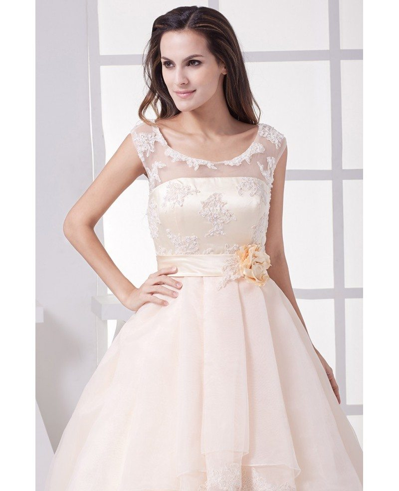 Gorgeous Empire Waist Long Tulle Ballgown Wedding Dress