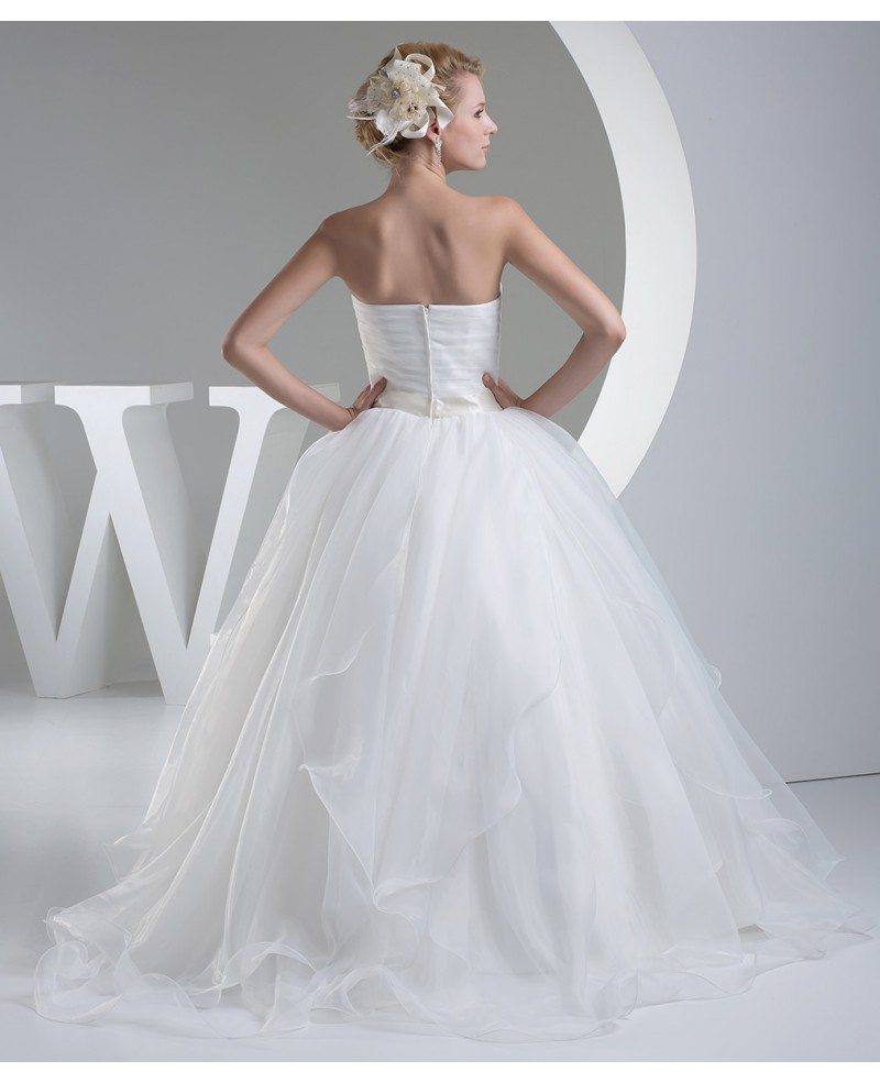 Organza Wedding Gowns: Organza Big Ballgown Wedding Dress With Crystals Bling