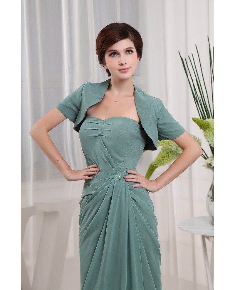 Sheath Sweetheart Floor-length Chiffon Mother Of The Bride