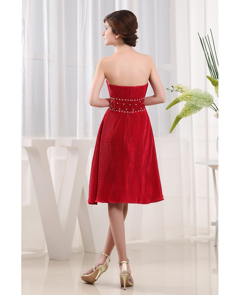 A-line Sweetheart Knee-length Chiffon Mother Of The Bride