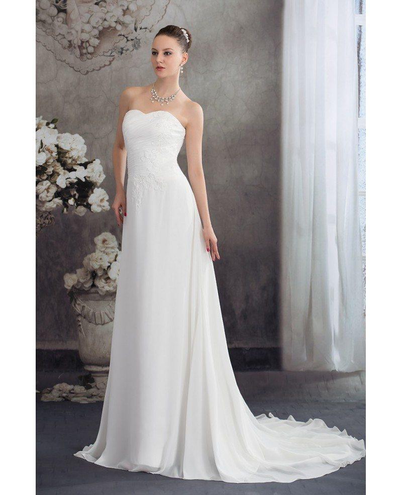 Chiffon Dressing Gown: Simple Aline Chiffon Sweetheart Beach Wedding Dress