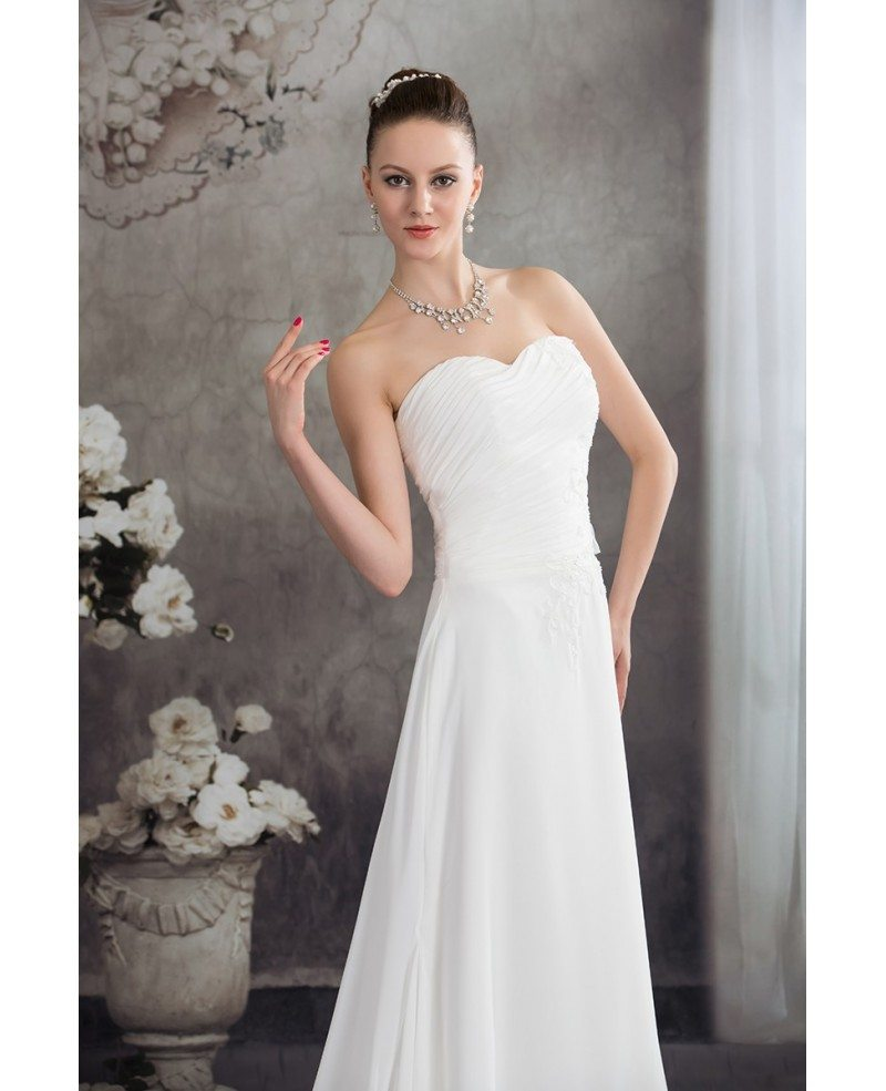 Aline Wedding Gown: Simple Aline Chiffon Sweetheart Beach Wedding Dress