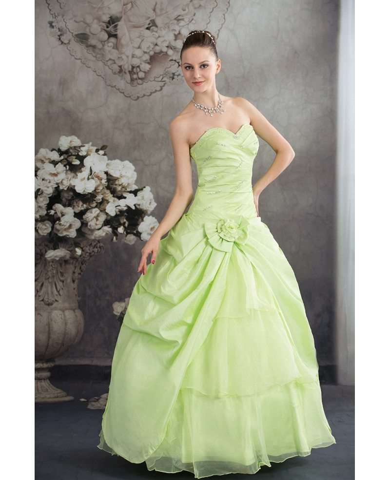 Clover green sequined color wedding dress sweetheart with corset ombrellifo Choice Image