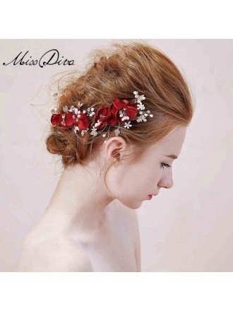 Pearl Floral Hairpins Style
