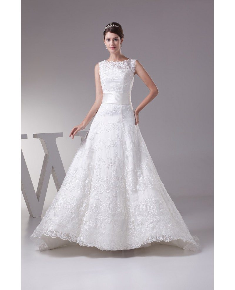 Full of Lace High Neckline Wedding Dress with Corset Back #OPH1292 ...
