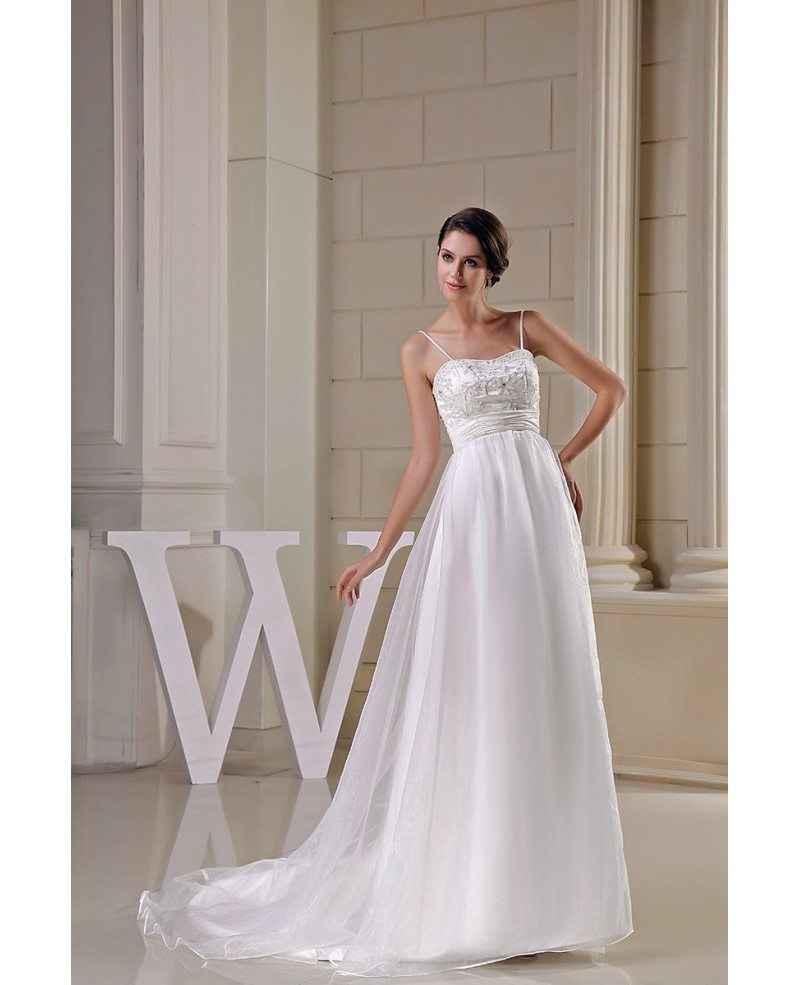 Pregnant Wedding Dresses: Organza Empire Waist Aline Maternity Wedding Dress