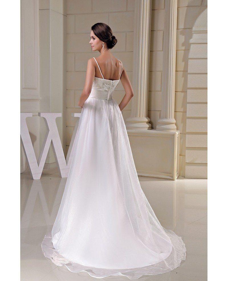 Organza Empire Waist Aline Maternity Wedding Dress
