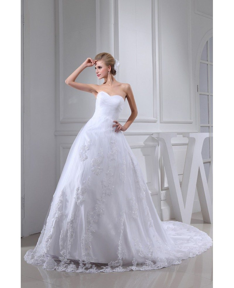 White lace tulle sweetheart wedding dress lace jacket for Wedding dress lace jacket