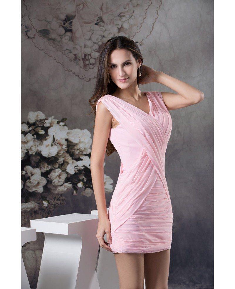 Sheath v neck chiffon bridesmaid dress op4597 100 gemgrace sheath v neck chiffon bridesmaid dress ombrellifo Images