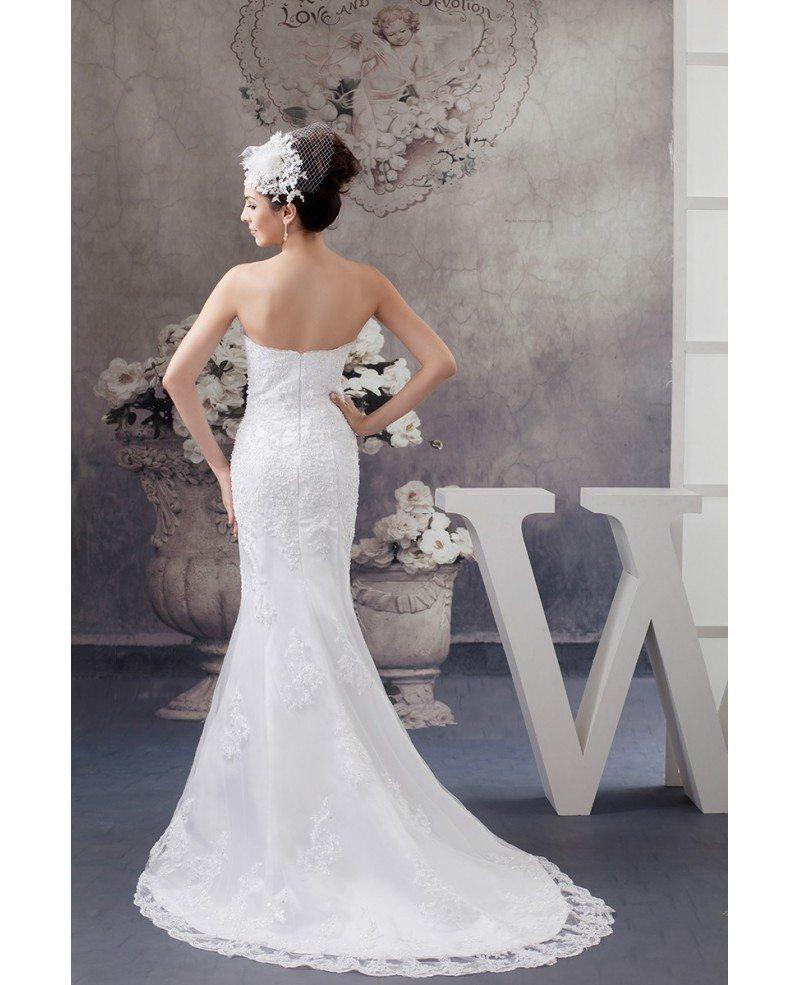 Perfect fitted lace beaded half sleeve mermaid wedding for Half sleeve wedding dress